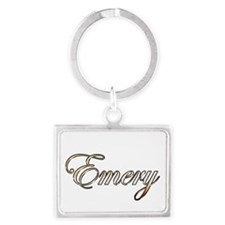 Gold Emery Keychains