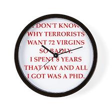 phd joke Wall Clock