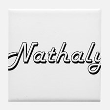 Nathaly Classic Retro Name Design Tile Coaster
