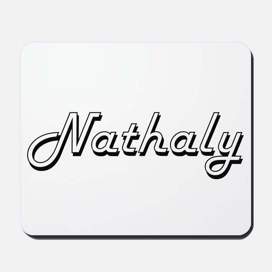 Nathaly Classic Retro Name Design Mousepad