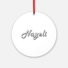 Nayeli Classic Retro Name Design Ornament (Round)