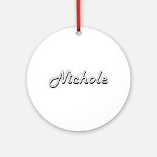 Nichole Classic Retro Name Design Ornament (Round)