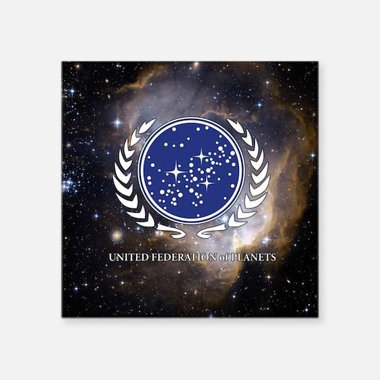"Star Trek United Federation Square Sticker 3"" x 3"""