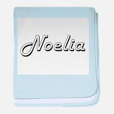 Noelia Classic Retro Name Design baby blanket