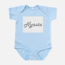 Nyasia Classic Retro Name Design Body Suit