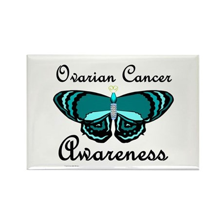 Teal Butterfly 2 (OC) Rectangle Magnet (100 pack)