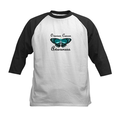 Teal Butterfly 2 (OC) Kids Baseball Jersey
