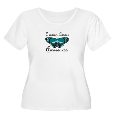 Teal Butterfly 2 (OC) Women's Plus Size Scoop Neck