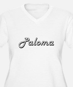 Paloma Classic Retro Name Design Plus Size T-Shirt