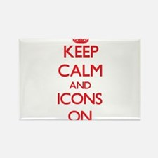 Keep Calm and Icons ON Magnets