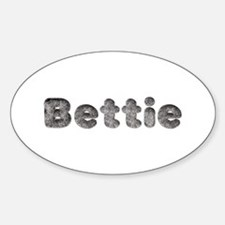 Bettie Wolf Oval Decal