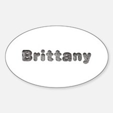 Brittany Wolf Oval Decal