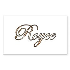Gold Royce Decal