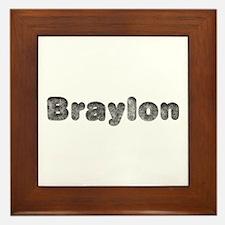 Braylon Wolf Framed Tile