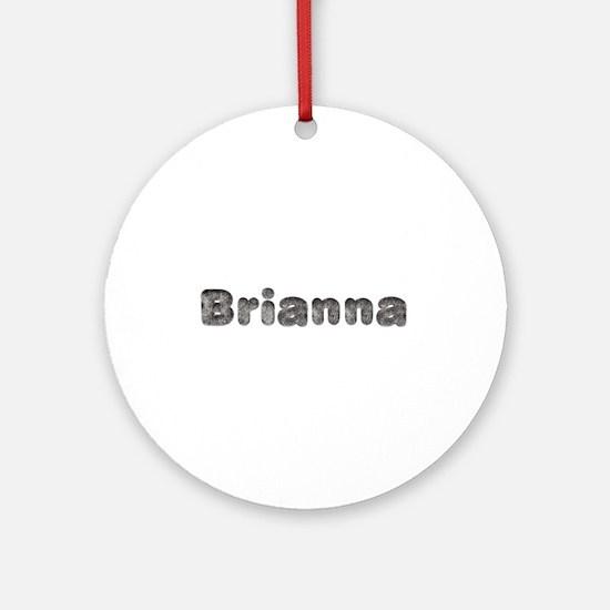 Brianna Wolf Round Ornament