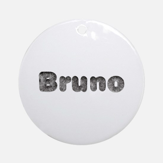 Bruno Wolf Round Ornament