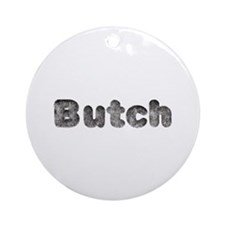 Butch Wolf Round Ornament