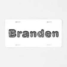 Branden Wolf Aluminum License Plate