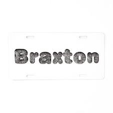 Braxton Wolf Aluminum License Plate