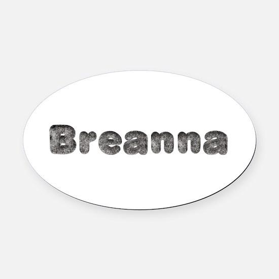 Breanna Wolf Oval Car Magnet