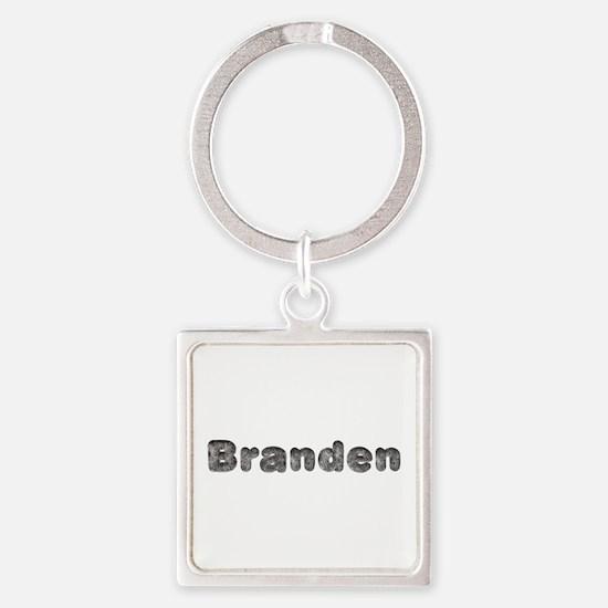 Branden Wolf Square Keychain