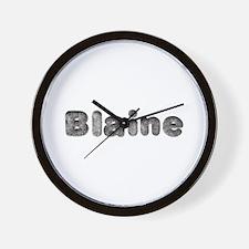 Blaine Wolf Wall Clock