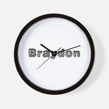 Braydon Wolf Wall Clock