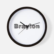 Braylon Wolf Wall Clock