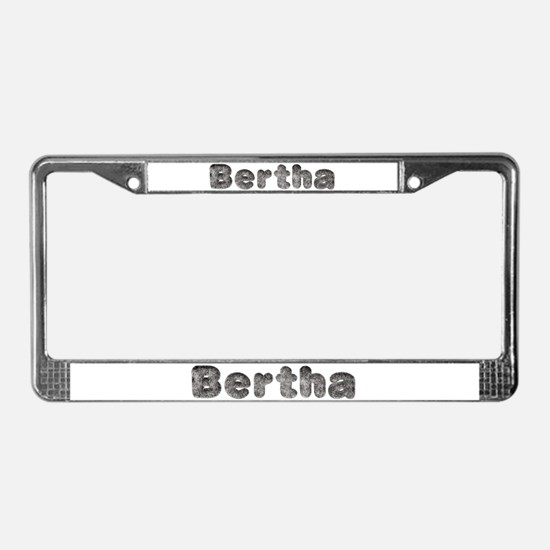 Bertha Wolf License Plate Frame