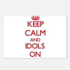 Keep Calm and Idols ON Postcards (Package of 8)