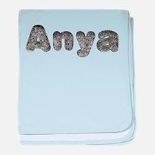 Anya Wolf baby blanket