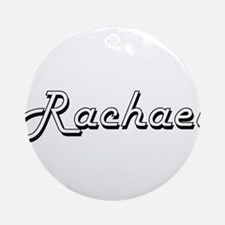 Rachael Classic Retro Name Design Ornament (Round)
