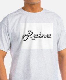 Raina Classic Retro Name Design T-Shirt