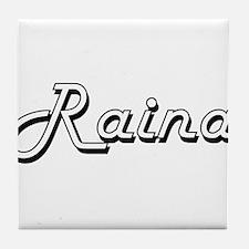 Raina Classic Retro Name Design Tile Coaster