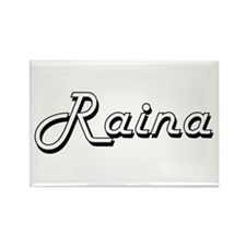 Raina Classic Retro Name Design Magnets