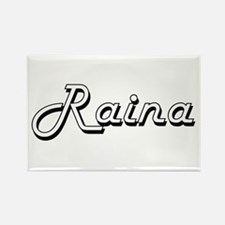 Raina Classic Retro Name Design Magnets