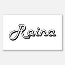Raina Classic Retro Name Design Decal