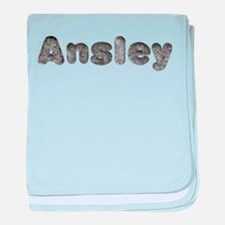 Ansley Wolf baby blanket