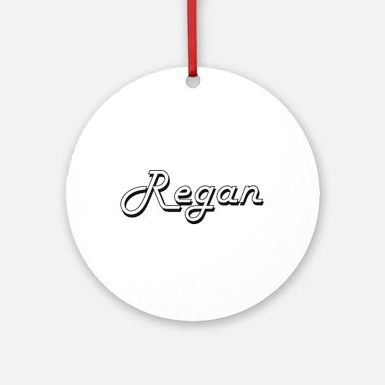 Regan Classic Retro Name Design Ornament (Round)