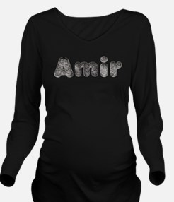 Amir Wolf Long Sleeve Maternity T-Shirt