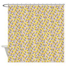 Floral Print Shower Curtain