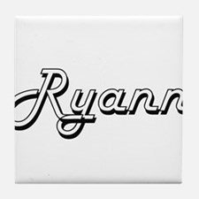 Ryann Classic Retro Name Design Tile Coaster