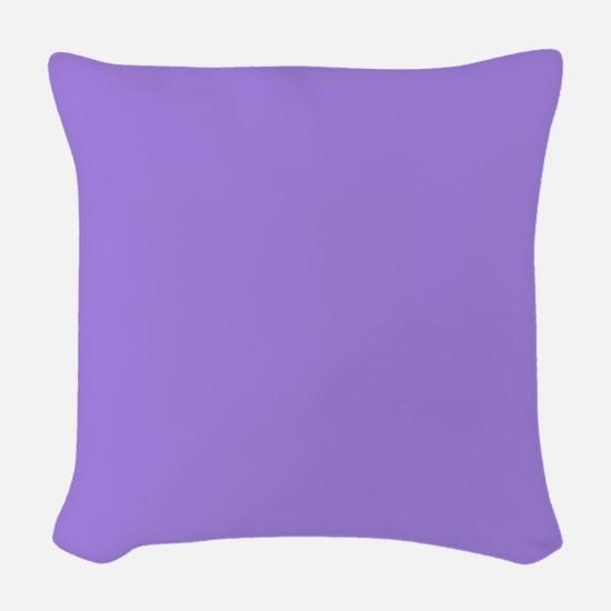 Light Violet Woven Throw Pillow