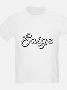 Saige Classic Retro Name Design T-Shirt