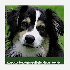 Funny Dog t logo Tile Coaster