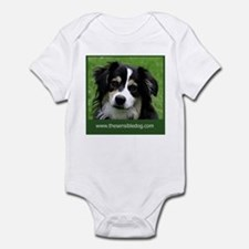 Cute Happy dog face Infant Bodysuit