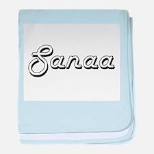 Sanaa Classic Retro Name Design baby blanket