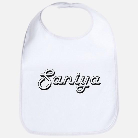 Saniya Classic Retro Name Design Bib