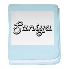Saniya Classic Retro Name Design baby blanket