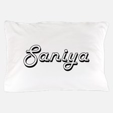 Saniya Classic Retro Name Design Pillow Case